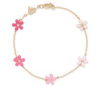 Wild Flower Armband aus 14 Karat  mit Diamanten und Emaille
