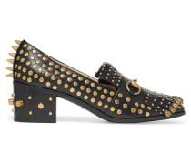Verzierte Loafers Aus Leder Mit Fransen Und Horsebit-detail - Schwarz