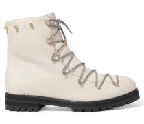 Drake Ankle Boots Aus Strukturiertem Leder Mit Shearling-futter -