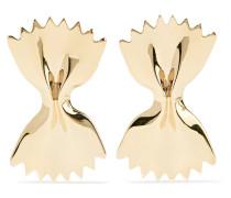 Large Bowtie Ohrringe aus 14 Karat
