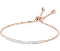 Stellar Pave Mini Bar Armband mit Roségoldauflage und Diamanten