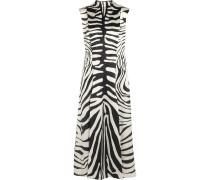 Irving Kleid aus Seidensatin mit Zebraprint