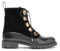 Stiefel aus Leder und Samt