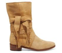 Ankle Boots Aus Veloursleder -