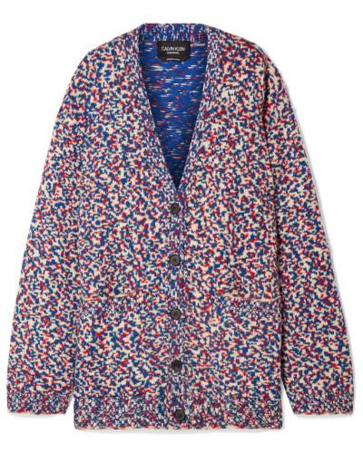 Oversized-cardigan aus einer Wollmischung