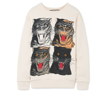 Bedrucktes Sweatshirt Aus Baumwoll-jersey -