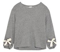 Madison Avenue Sweatshirt aus Baumwoll-jersey mit Zierschleifen -