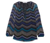 Saylor Bedruckte Bluse Aus Seiden-georgette - Blau