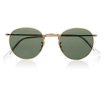 Sonnenbrille Mit Goldfarbenem Rundem Rahmen