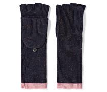 Jubilee Fingerlose Handschuhe Aus Einer Merinowollmischung In Metallic-optik -