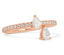 Princess Ring aus 18 Karat  mit Diamanten