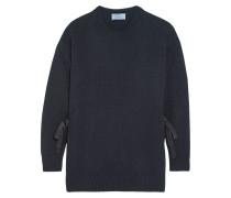 Pullover Aus Einer Woll-kaschmirmischung Mit Schleifenverzierung - Navy