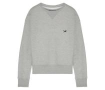 Sweatshirt Aus Baumwoll-jersey Mit Applikation -