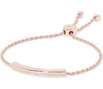 Linear Armband mit Roségoldauflage und Diamanten