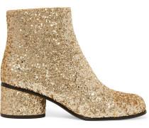 Camilla Ankle Boots aus Leder mit Glitter-Finish