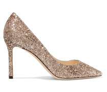 Romy 85 Pumps Aus Leder Mit Glitter-finish -