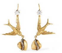 Ohrringe Aus Den 1900er-jahren Aus 14 Karat  Mit Diamanten
