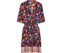 We Liming Bedruckter Kimono Aus Crêpe De Chine Aus Seide -