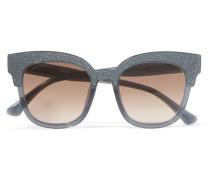 Sonnenbrille Mit Cat-eye-rahmen Aus Azetat Mit Glitter-finish -