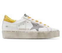 Hi Star Plateau-sneakers aus Leder in Distressed-optik
