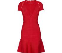 Hillary Kleid Aus Bandage Mit Tülleinsätzen - Rot