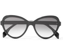 Sonnenbrille mit Butterfly-Rahmen aus Azetat mit polarisierten Gläsern