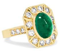Collection Ring Aus 18 Karat  Mit Smaragd Und Diamanten