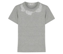 + Jupe By Jackie T-shirt Aus Baumwoll-jersey Mit Kunstperlenverzierung -