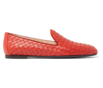 Loafers Aus Intrecciato-leder -