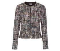 Jacke aus Bouclé-Tweed in Metallic-Optik