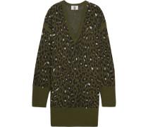 Exhall Pulloverkleid aus Jacquard-Strick mit Leoparden-Intarsienmuster