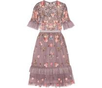 Verziertes Kleid Aus Tüll Mit Stickereien - Lavendel