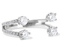 Ring Aus 18 karat Weißgold Mit Diamanten