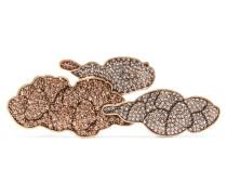 Cloud Cluster Vergoldetet Haarspange Mit Swarovski-kristallen