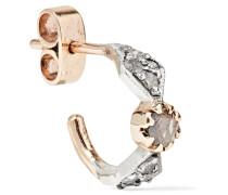 Adele N°1 Ohrring Aus 9 Karat  Und Silber Mit Diamanten