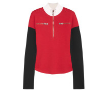 Rollkragenpullover Aus Wolle In Colour-block-optik -