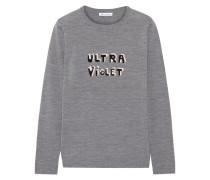 Ultra Violet Pullover Aus Merinowolle Mit Intarsienmotiv - Grau