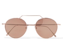 Wynwood Ii Roségoldfarbene Sonnenbrille mit Rundem Rahmen -