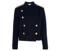 Jacke Aus Einer Wollmischung Mit Kettenverzierungen - Navy