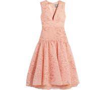 Kleid Aus Organza Mit Fil Coupé - Puder