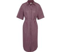 Tiller Gestreiftes Hemdblusenkleid Aus Baumwolle In Oversized-passform -