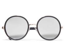 Andie Verspiegelte Sonnenbrille Mit Rundem Rahmen Aus Azetat In Glitter-optik -