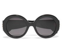 Sonnenbrille Mit Rundem Rahmen Aus Azetat - Schwarz