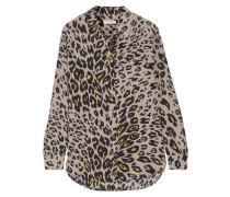 Reese Hemd Aus Vorgewaschener Seide Mit Leopardenprint -