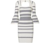 Kleid aus Jacquard-strick mit Stretch-anteil -