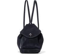 Fernweh Mini Rucksack Aus Veloursleder -