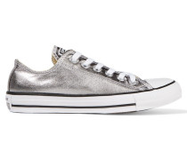 Chuck Taylor All Star Sneakers Aus Beschichtetem Canvas In Metallic-optik - Silber