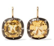 Collection Ohrringe aus 18 Karat  und Silver mit Zitrinen