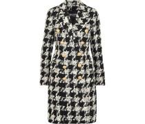 Mantel Aus Tweed Aus Einer Wollmischung Mit Hahnentrittmuster -