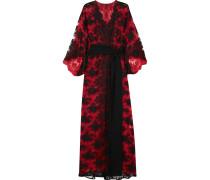Madame Shehu Kimono Aus Spitze Und Seidenchiffon -